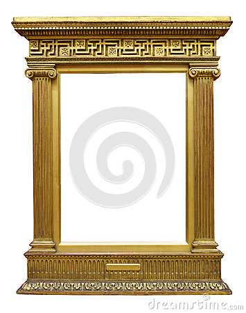Old Gold Greek Frame