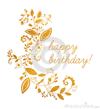 happy birthday you lettering gold frame stock vector gold greeting happy birthday card stock vector image 146