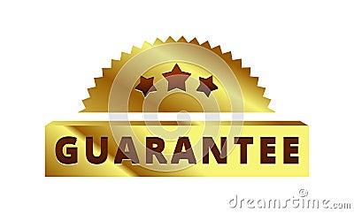 Gold Guarantee label, badge, symbol, mark Stock Photo