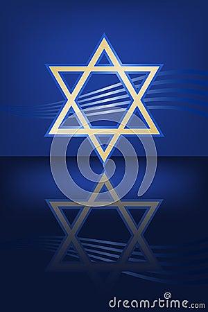 Gold Hanukkah Star