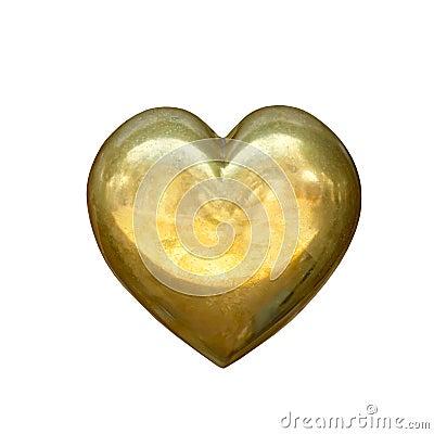 Free Gold Heart Royalty Free Stock Photo - 74078655