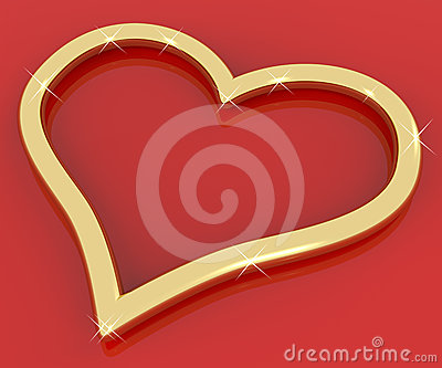 Gold Heart Shaped Ring Representing Love And Romance