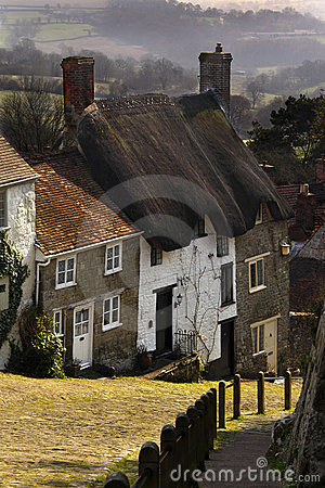 Gold Hill - Shaftsbury - Dorset - England Editorial Stock Image