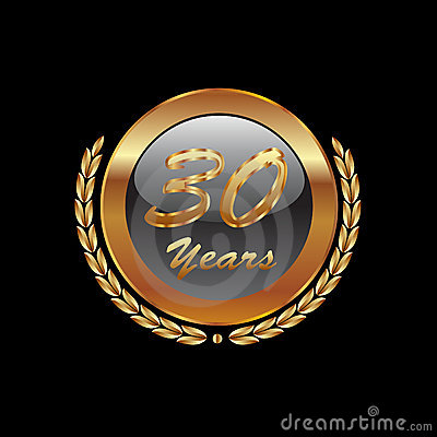 Gold icon  30 years anniversary