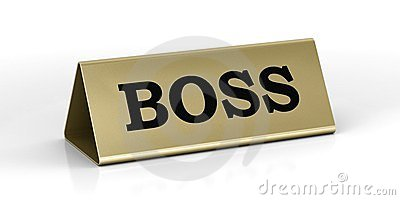 Gold identification plate of the boss position