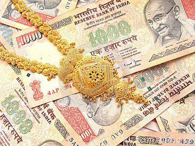 Gold And Indian Currency