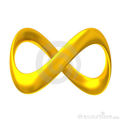 Gold infinity 3d