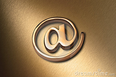 Gold @ Internet Email Background