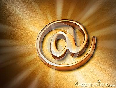 Gold At Internet Web Background