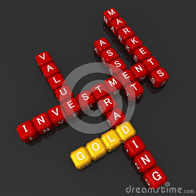 Gold investment concept crossword