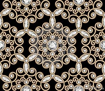 Gold Jewelry Diamond Pattern Stock Vector Image 58991713