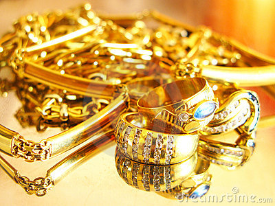 Gold Jewels Stock Photos Image 10520523