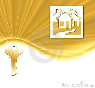 Free Gold Key And Houses Stock Image - 4427071