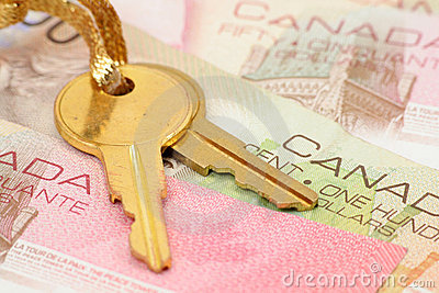 Gold key and canadian dollars