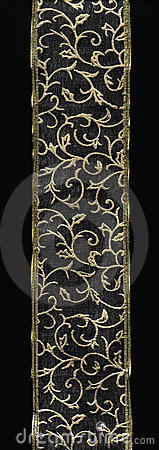 Gold lace border