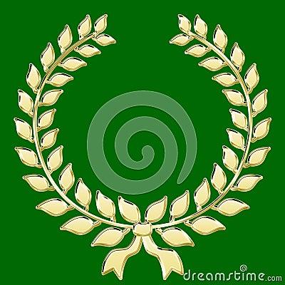 Gold laurel chaplet