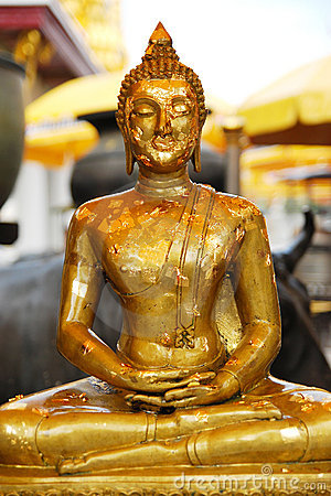 Gold leaf of buddha