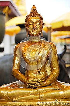 Gold leaf of buddha