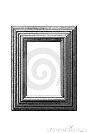 Gold leaf picture frame greyscale