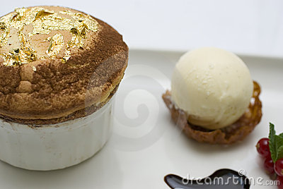 Gold leaf souffle7