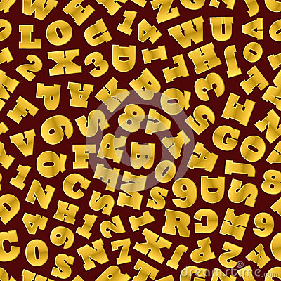 Gold letters texture
