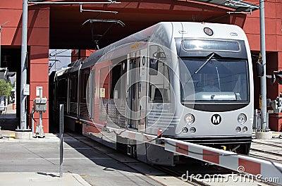 Gold Line Train in Pasadena Editorial Stock Image