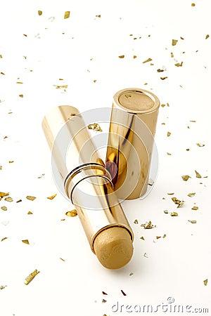 Gold make-up stick