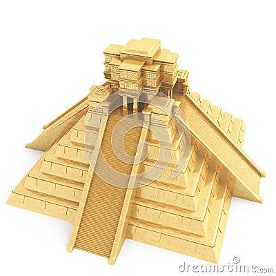 Gold Mayan Temple