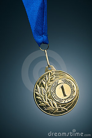 Free Gold Medal Royalty Free Stock Photo - 12781135