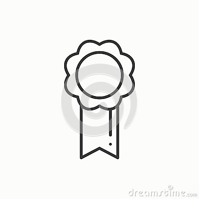 Free Gold Medal Award With Ribbon. Winner Line Thin Icon. First Place Leadership Champion Achievement. 1st Place. Vector Royalty Free Stock Photography - 85842087