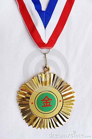 Gold medal from China