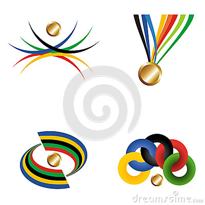 Gold medal with ribbon.
