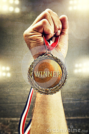 Free Gold Medal Winner Royalty Free Stock Photos - 71629378