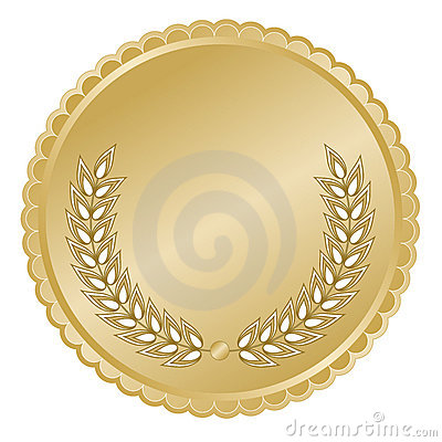 Free Gold Medallion With Leaves Royalty Free Stock Image - 6594476