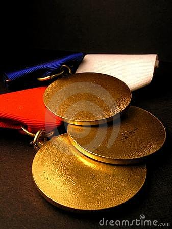 Free Gold Medals Royalty Free Stock Photos - 229758