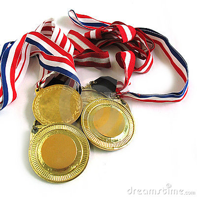 Free Gold Medals Stock Image - 84501