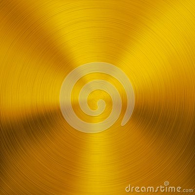 Free Gold Metal Background With Circular Texture Royalty Free Stock Photography - 30863957