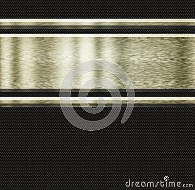 Gold metal and carbon fibre