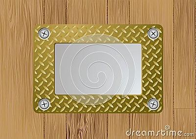 Gold metal plaque