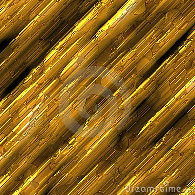 Gold metal rods