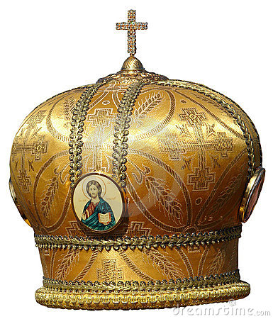 Gold mitre - solemn headgear of the orthodox bisho