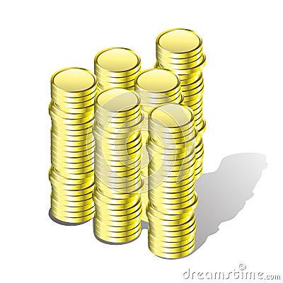 Gold money.
