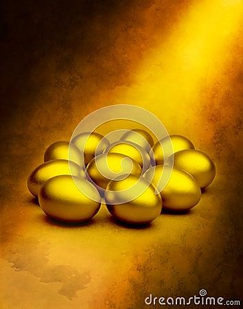 Gold Nest Eggs Savings Wealth