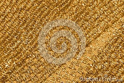 Gold netting fabric decor