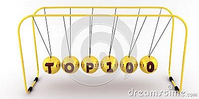 Gold Newton pendulum