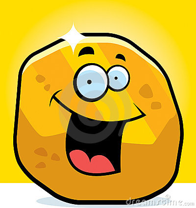 Gold Nugget Smiling Royalty Free Stock Photography - Image: 15818567