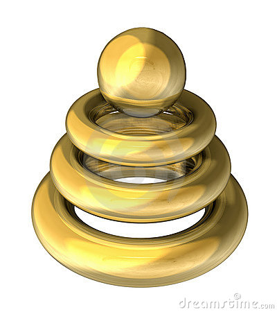 Gold object for modern company