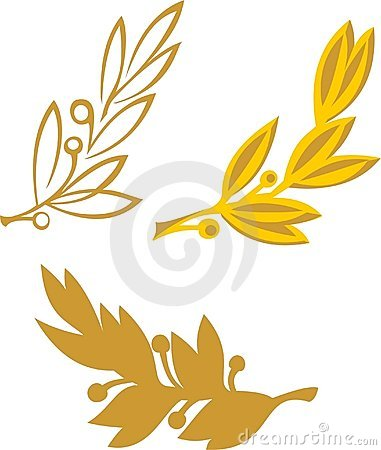 Free Gold Olive Branch Royalty Free Stock Photos - 1231828