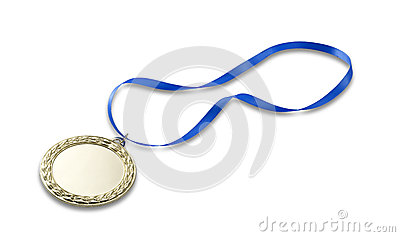 Gold olympics medal 2 with clipping path