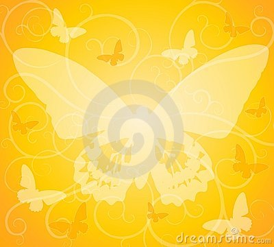Gold Opaque Butterfly Background